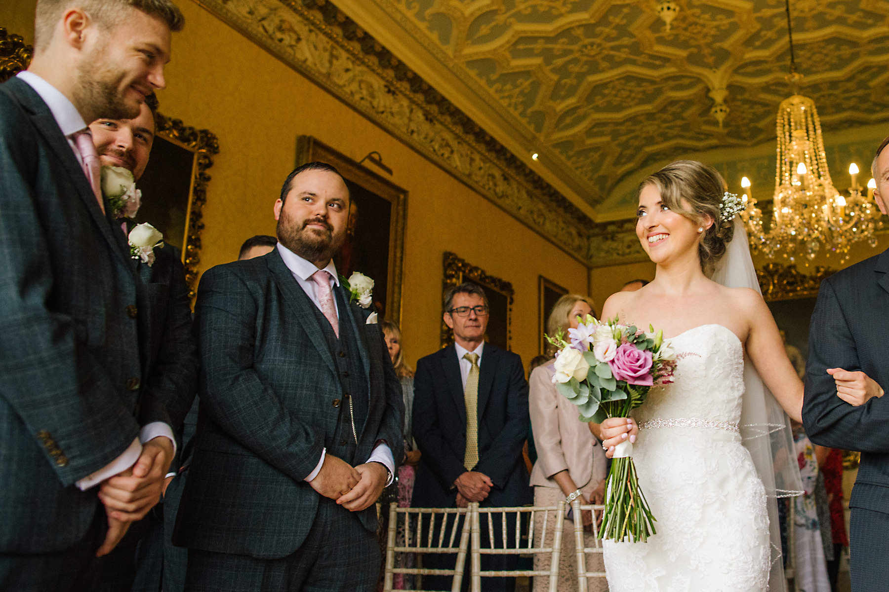 arley hall wedding ceremony photo