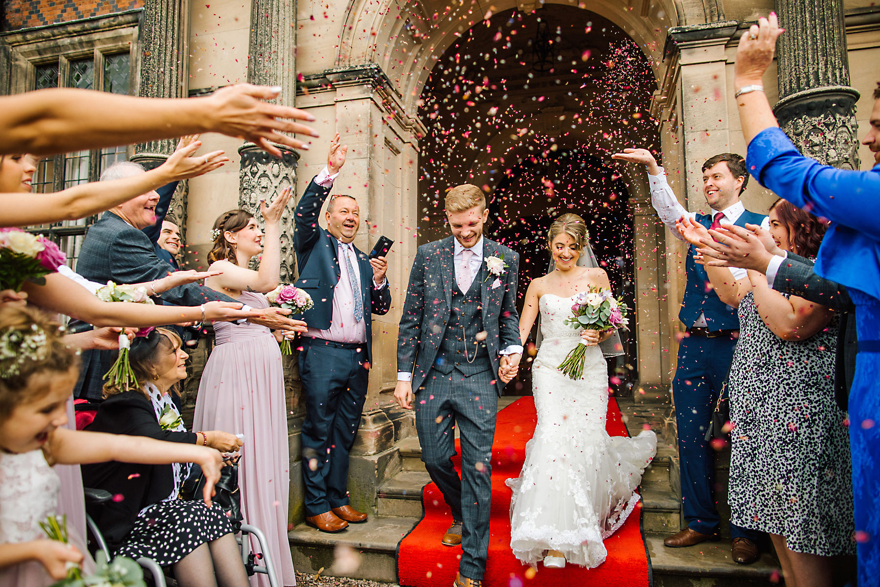 confetti photo at arley hall