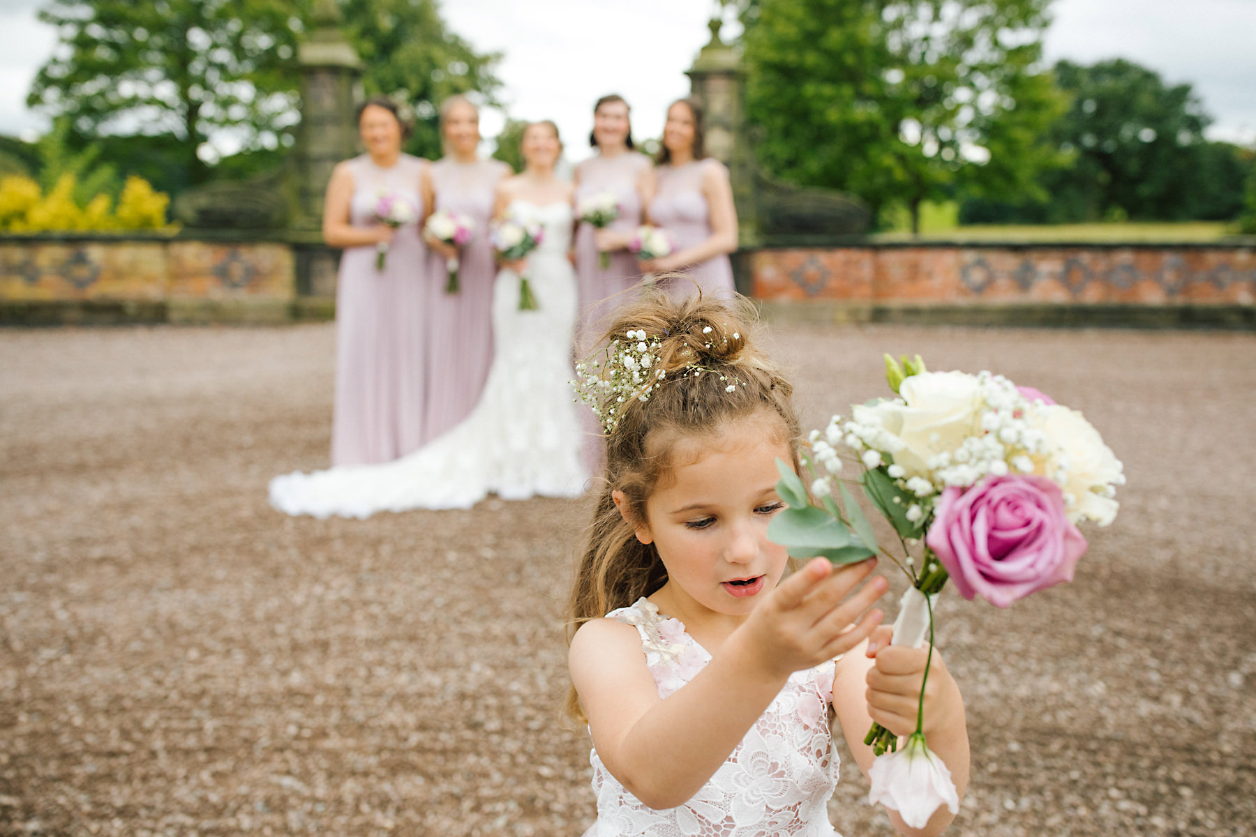 arley hall gardens bridesmaid