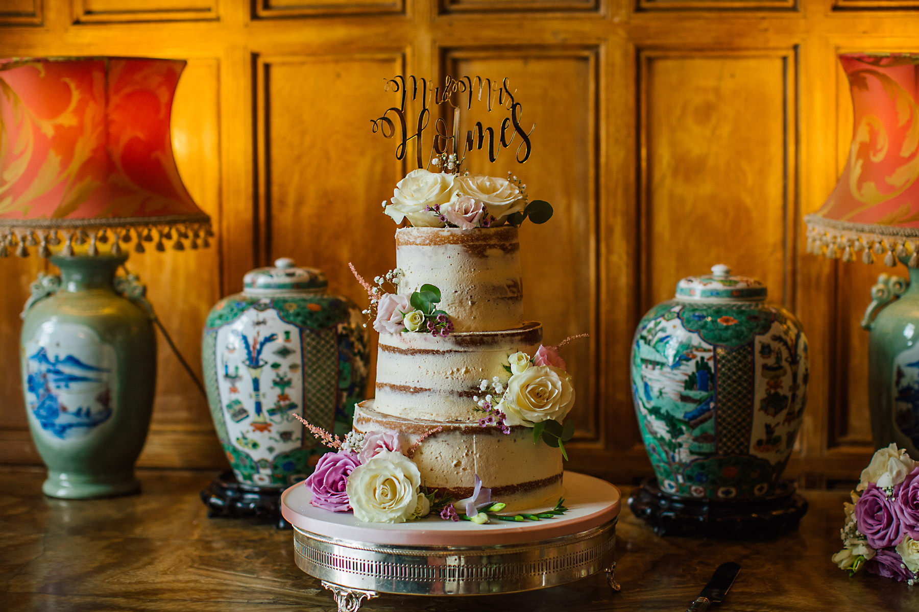 arley hall wedding cake