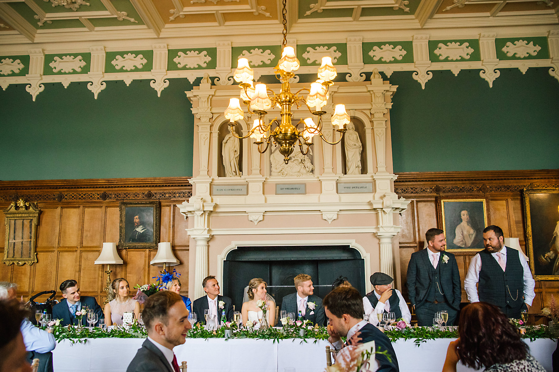 arley hall wedding breakfast room