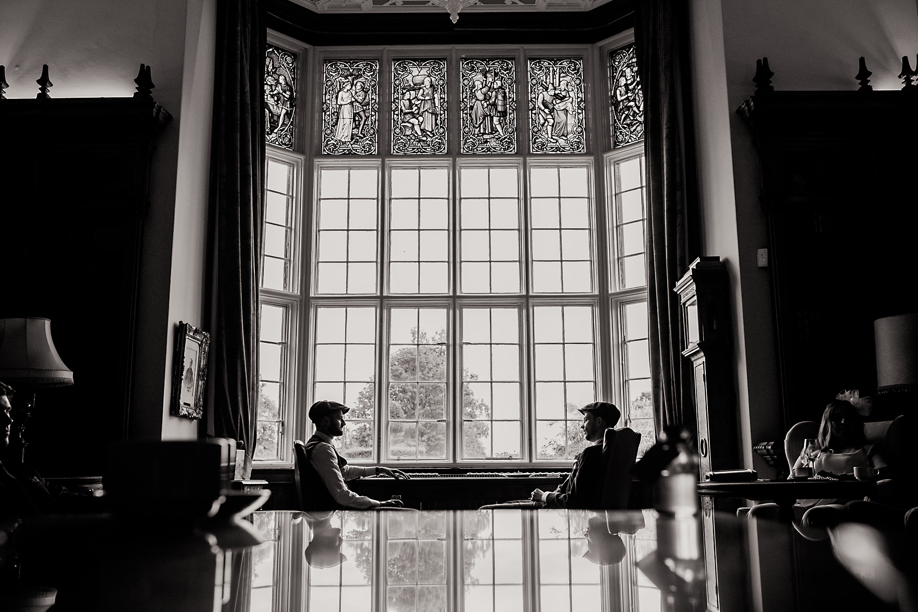 arley hall window portrait