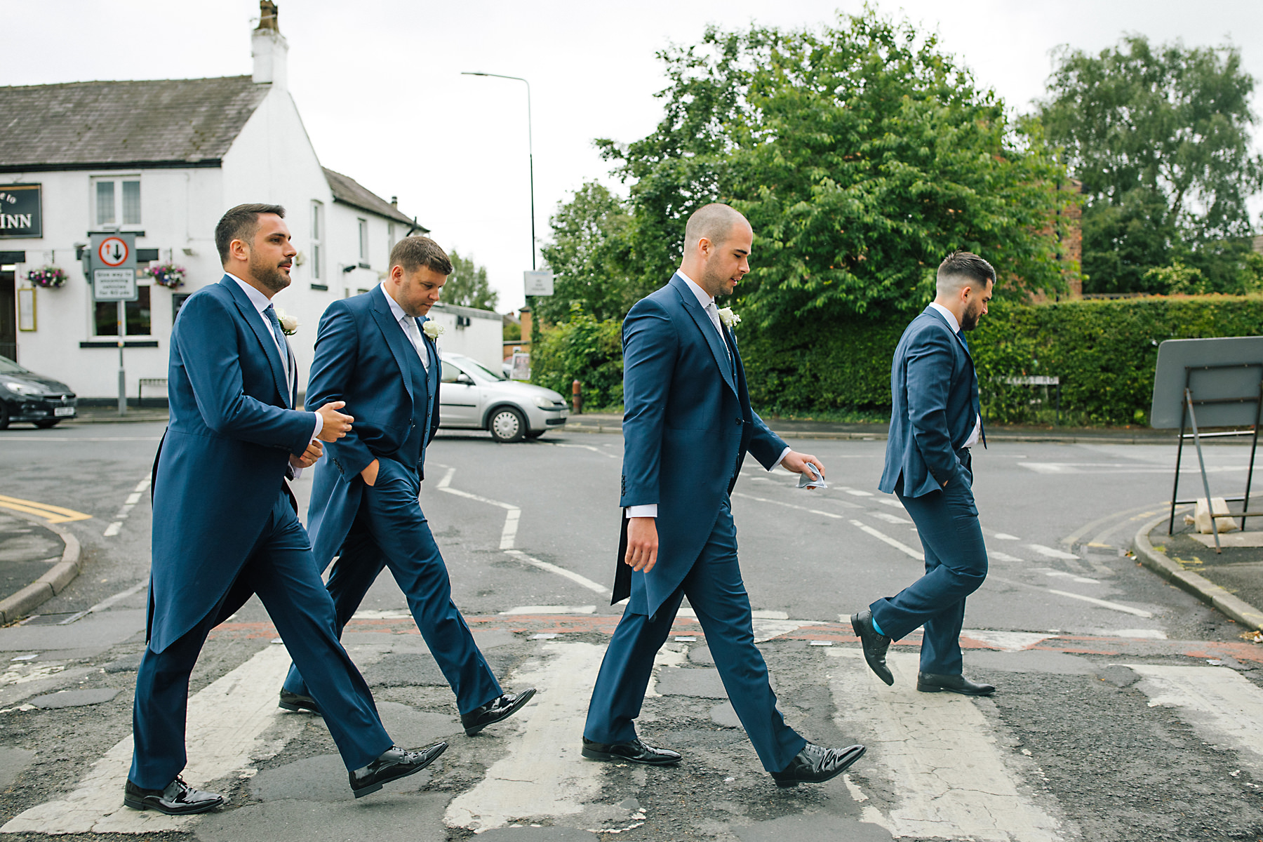 abbey road groomsmen photo
