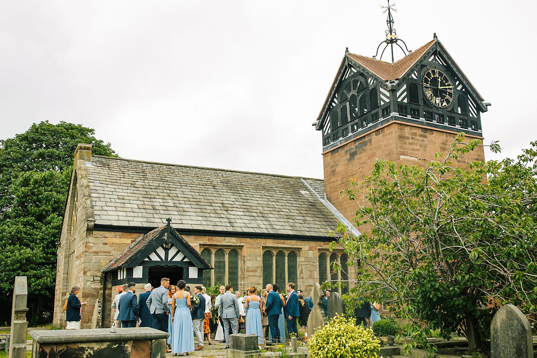 summer church wedding