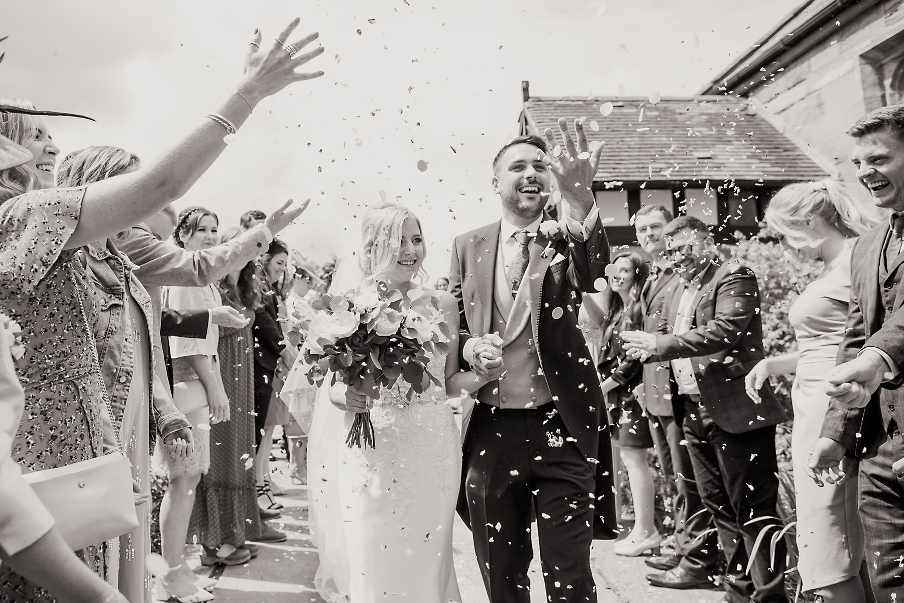 black and white confetti photo