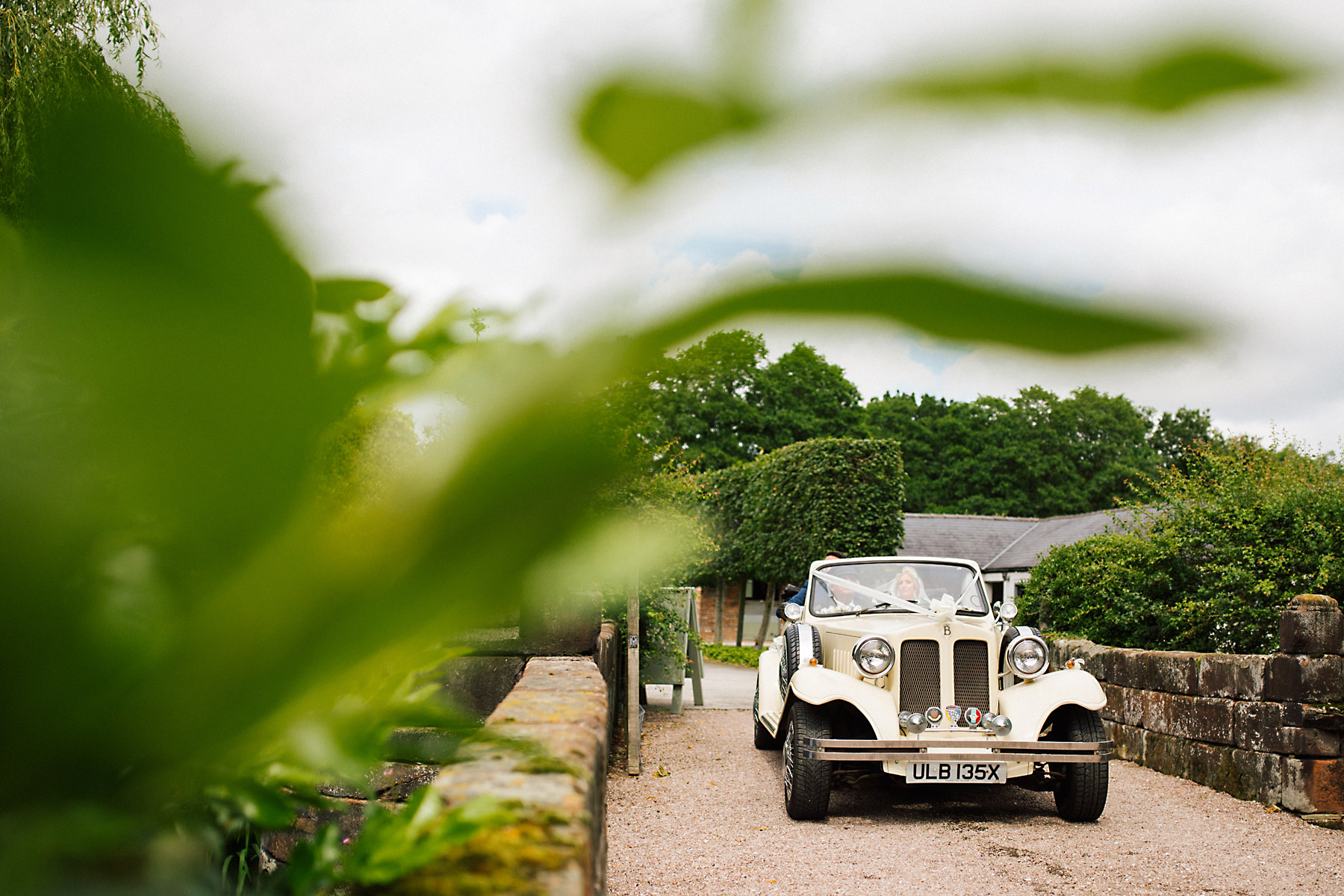 wedding car at holford estate