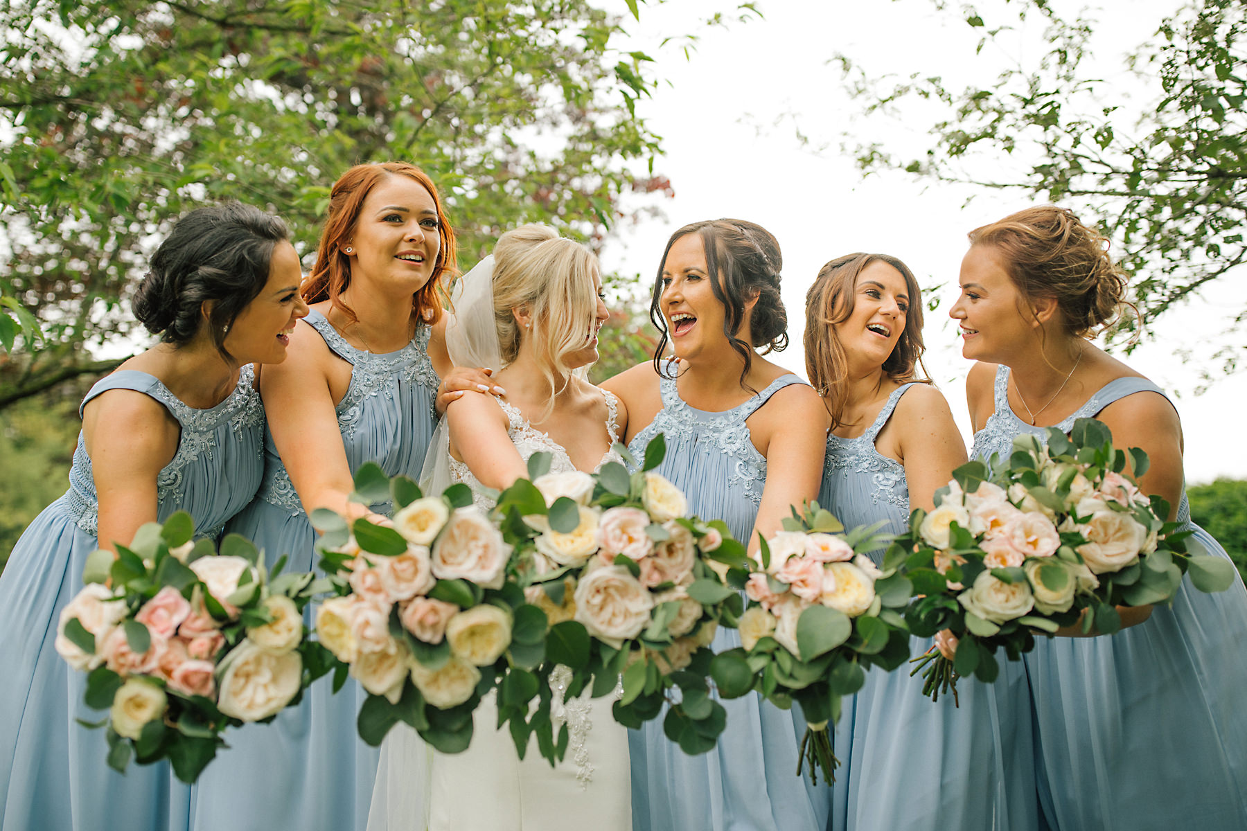 cheshire wedding venue bridesmaids photo