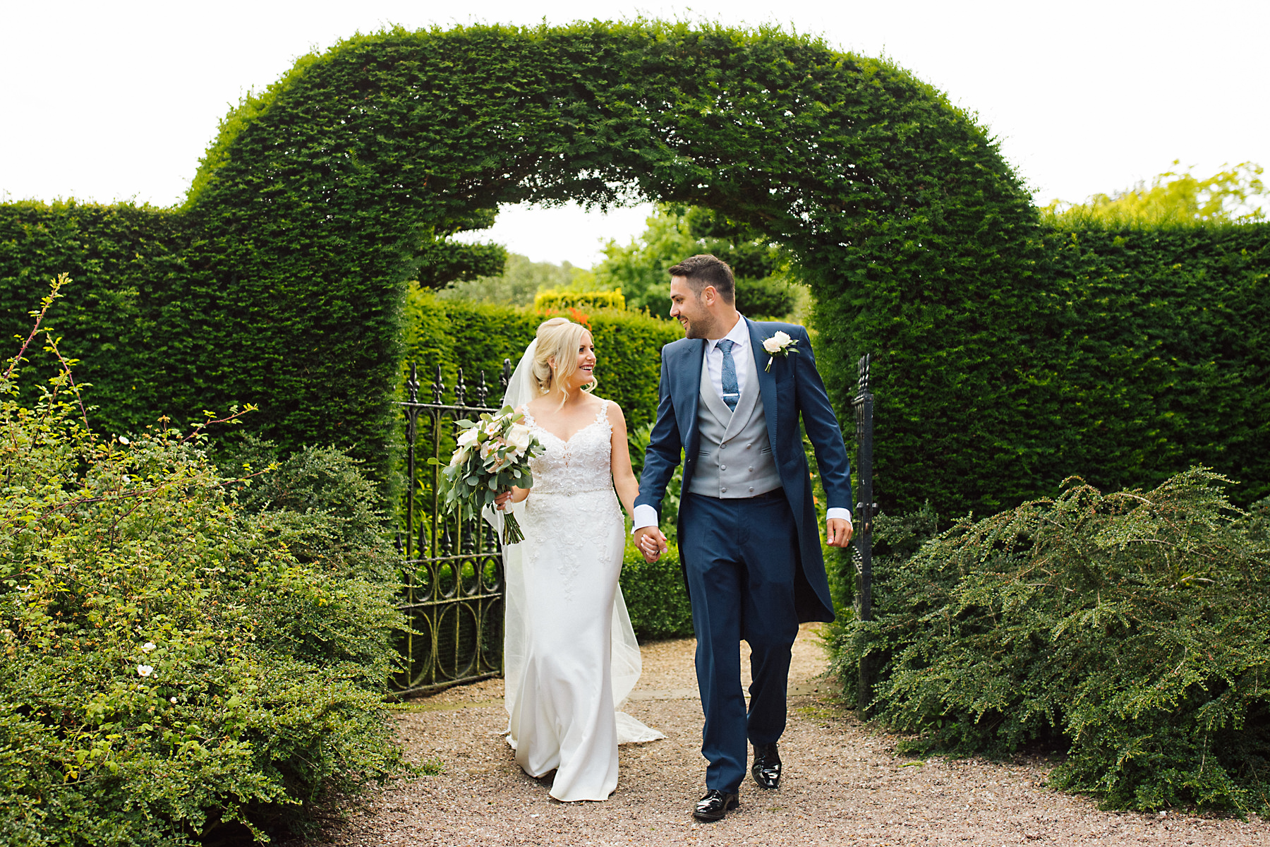 bride and groom at the holford estate
