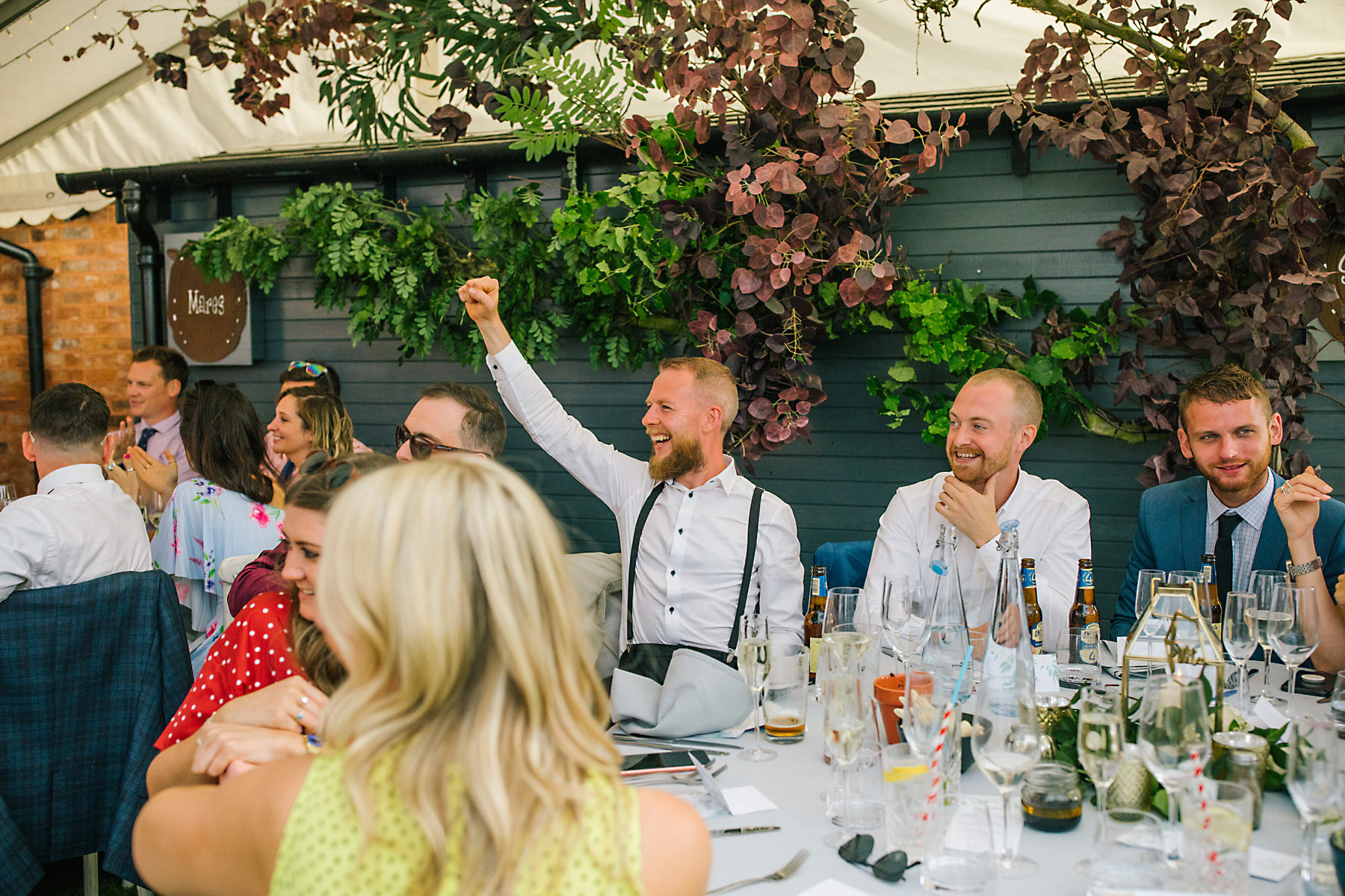wedding breakfast at the holford estate