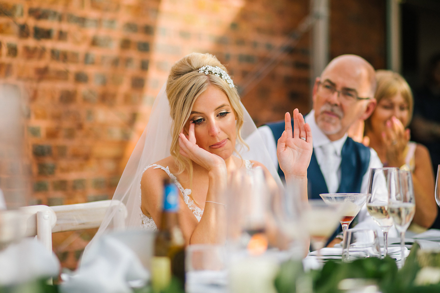 bride tears at speeches