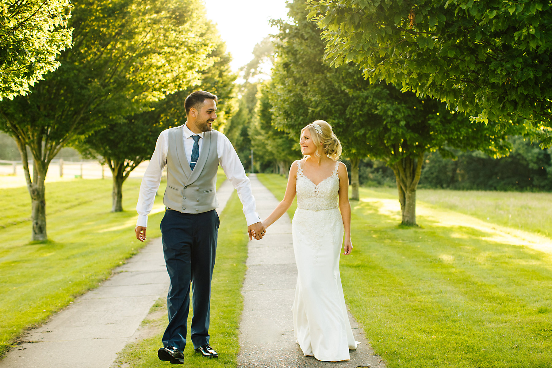 bride and groom photos at holford estate