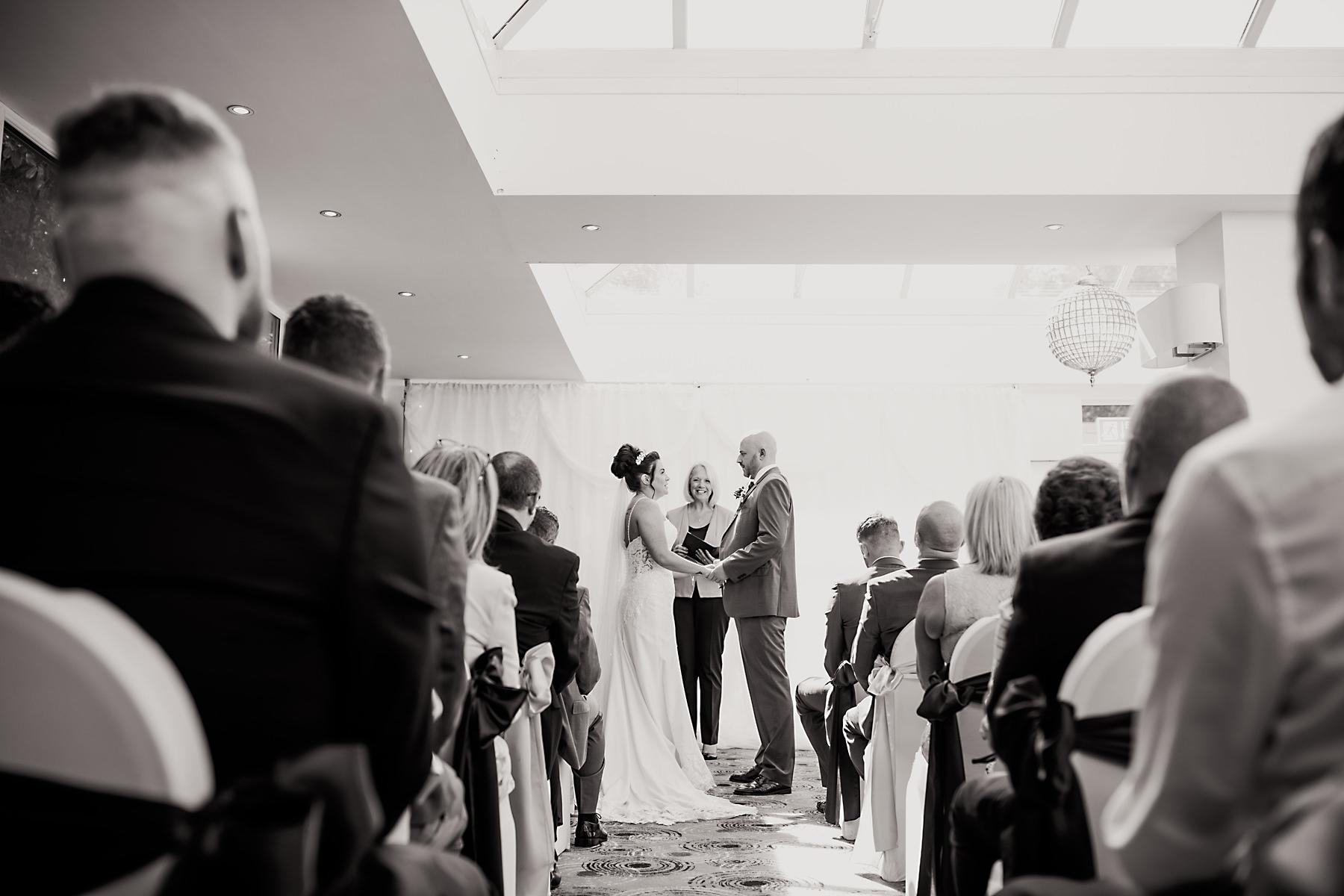 wedding ceremony at chimney house hotel