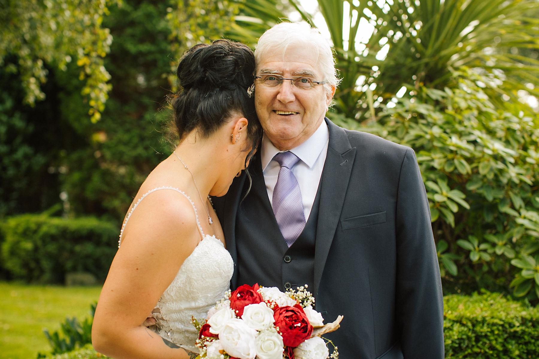 bride and grandad