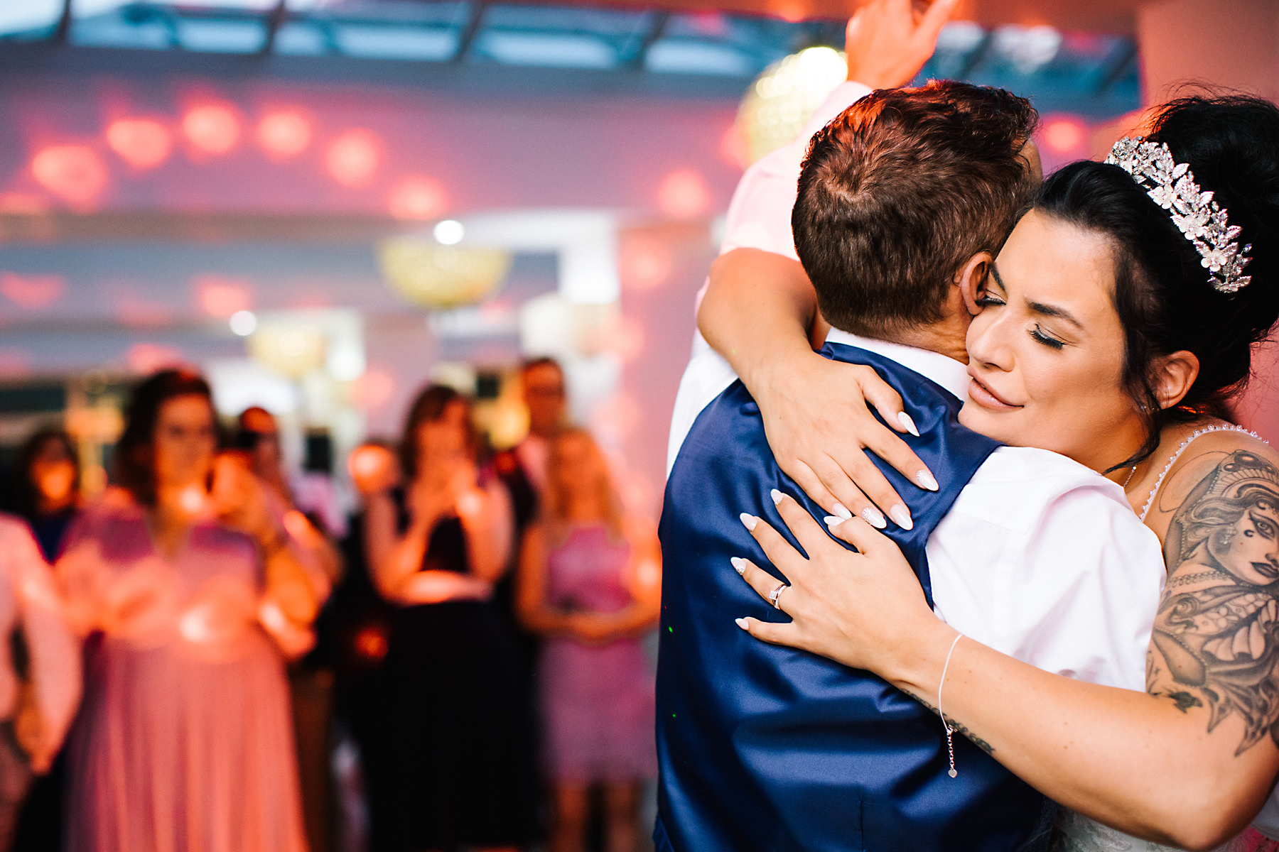 bride and dad first dance at wedding