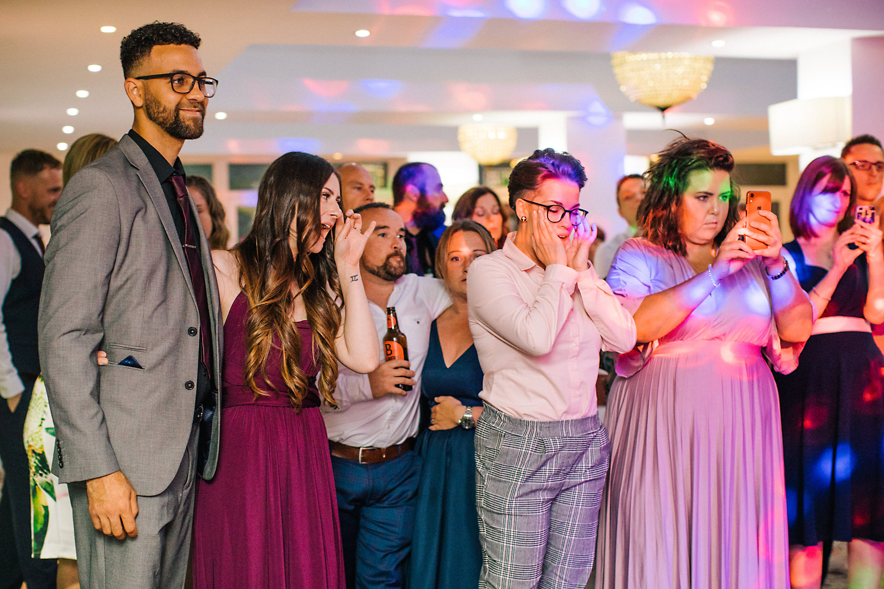 guests dancing chimney house hotel wedding