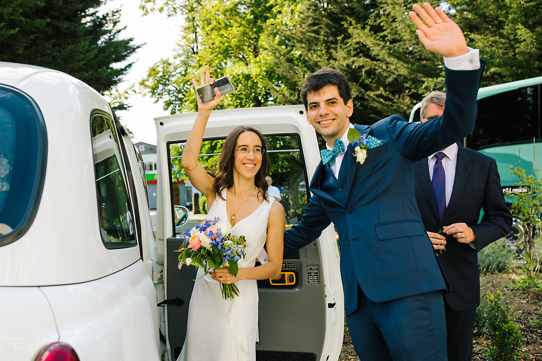 white cab wedding london