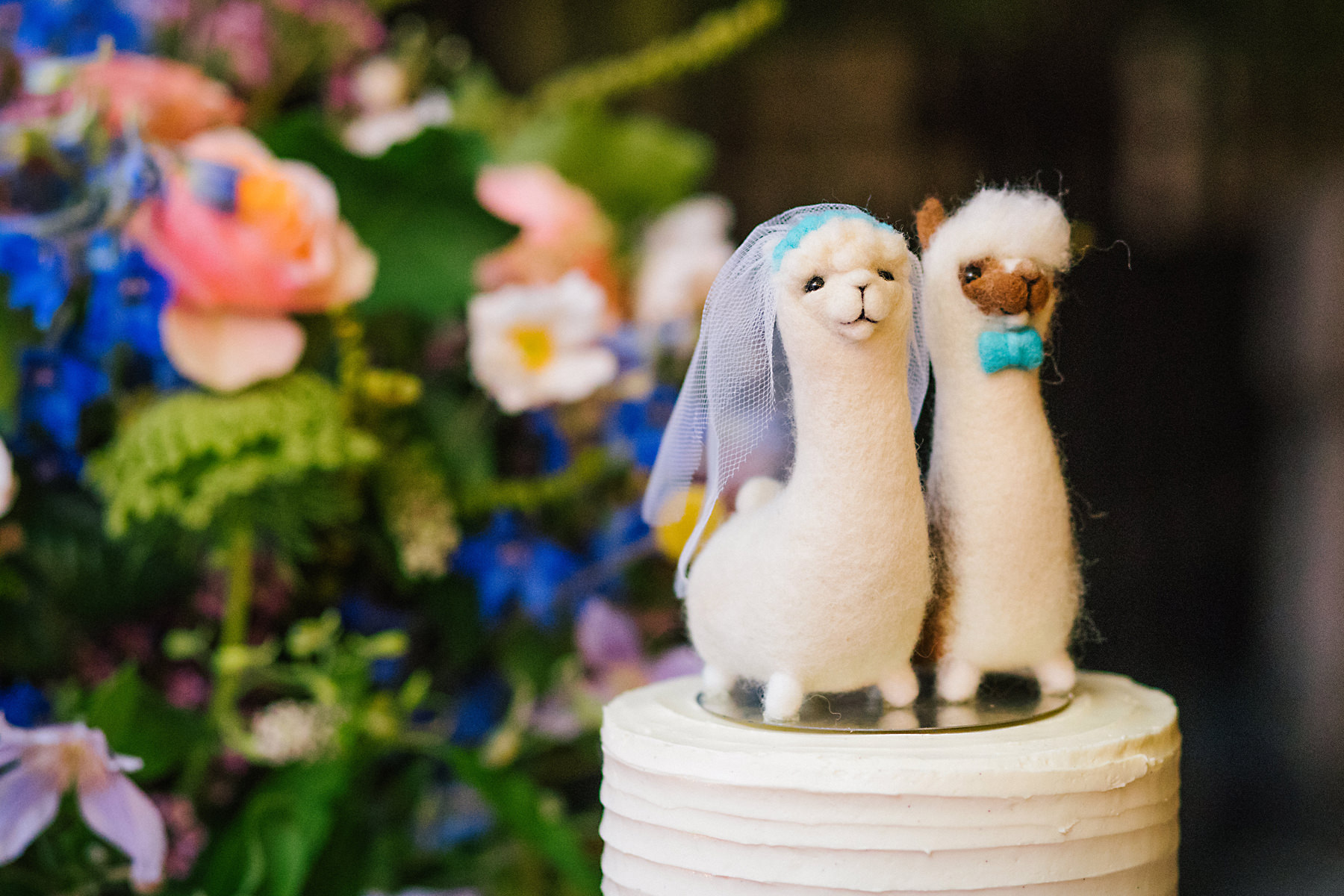 alpaca wedding cake toppers